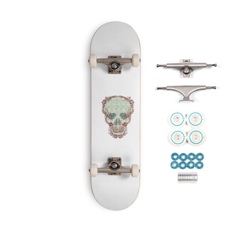 Floral Skull 2020 Accessories Skateboard by pgttcm's Artist Shop