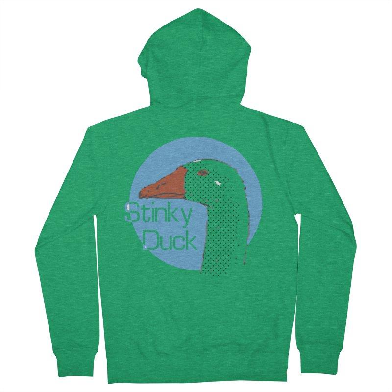 Stinky Duck Men's Zip-Up Hoody by pgttcm's Artist Shop