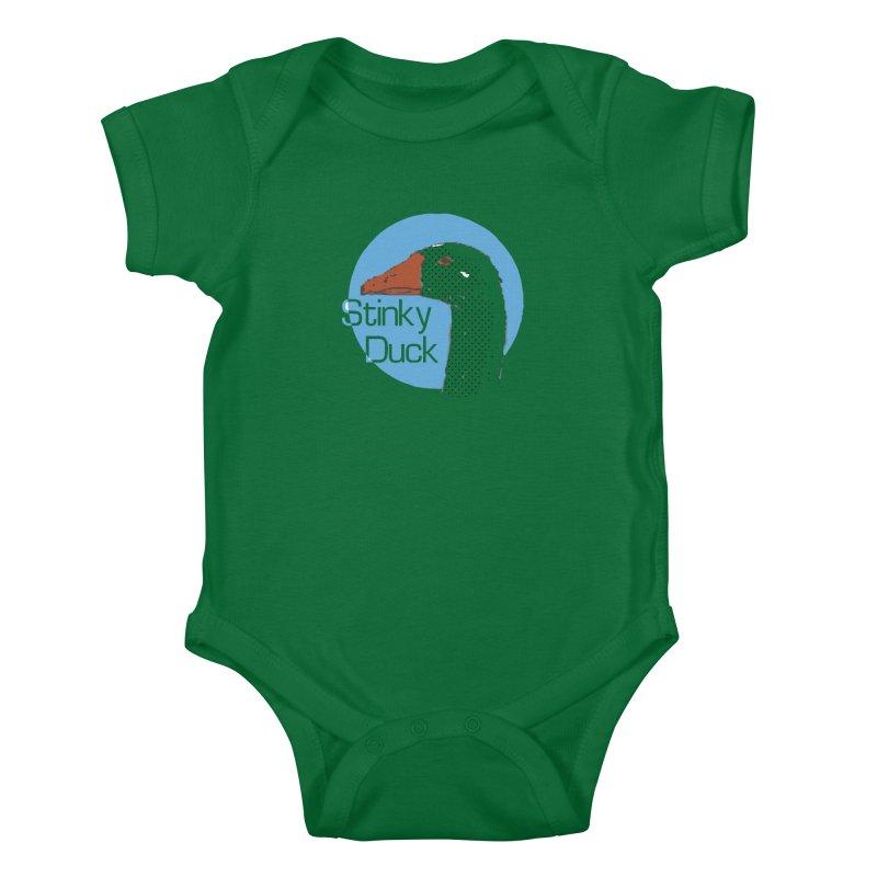 Stinky Duck Kids Baby Bodysuit by pgttcm's Artist Shop