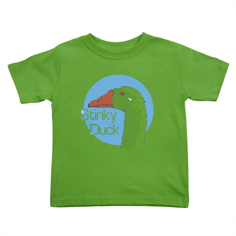 Stinky Duck Kids Toddler T-Shirt by pgttcm's Artist Shop