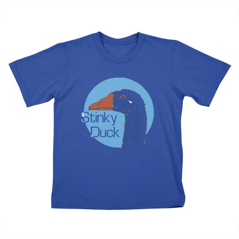 Stinky Duck Kids T-Shirt by pgttcm's Artist Shop