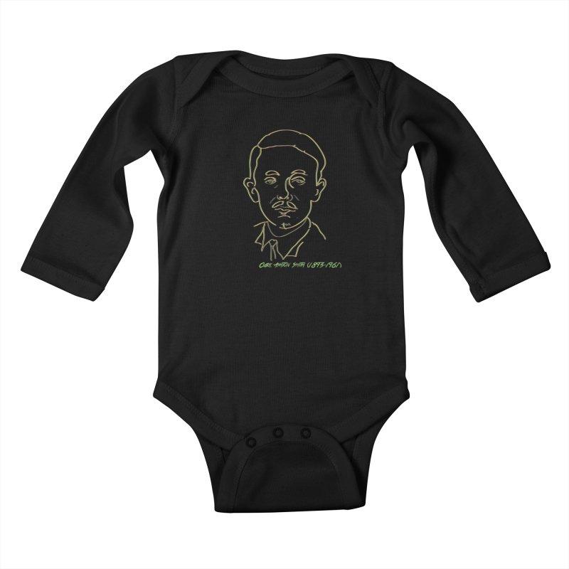 Clark Ashton Smith Kids Baby Longsleeve Bodysuit by pgttcm's Artist Shop
