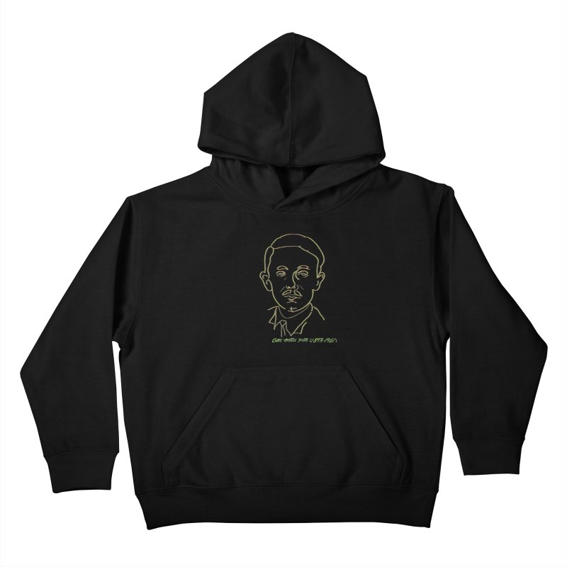 Clark Ashton Smith Kids Pullover Hoody by pgttcm's Artist Shop