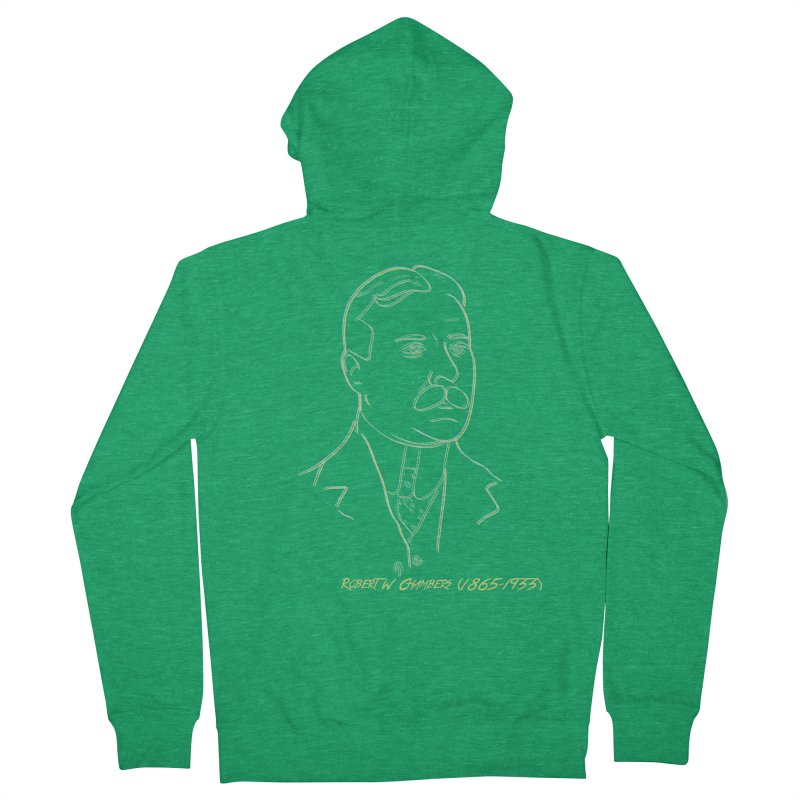 Robert W Chambers Men's French Terry Zip-Up Hoody by pgttcm's Artist Shop