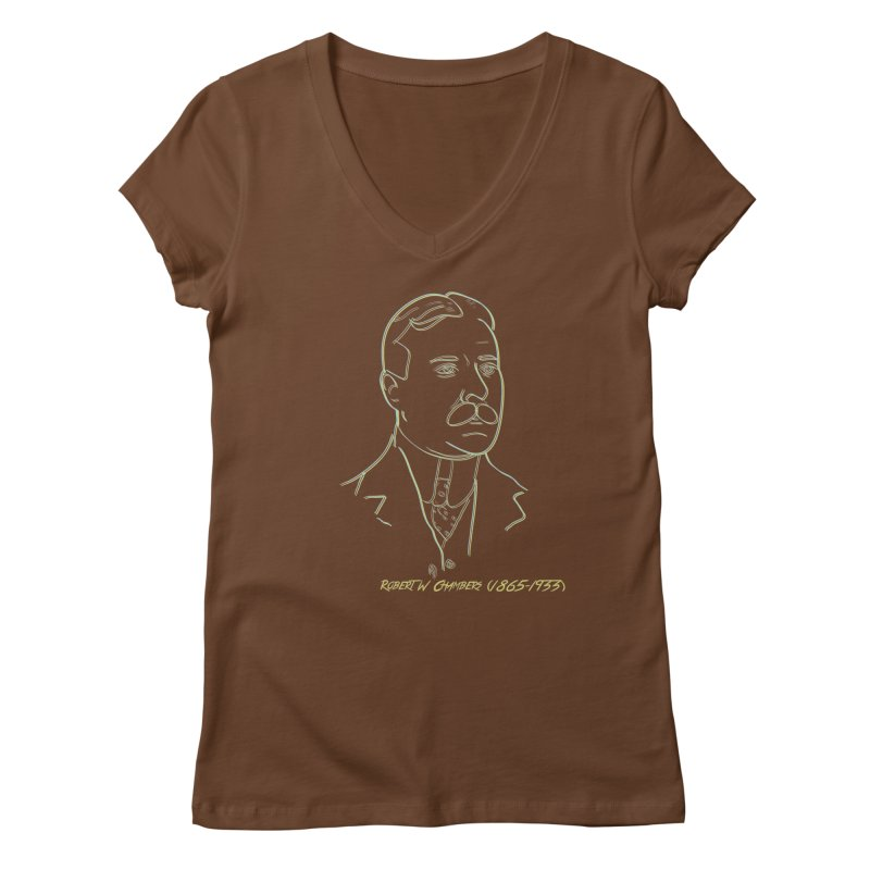 Robert W Chambers Women's Regular V-Neck by pgttcm's Artist Shop
