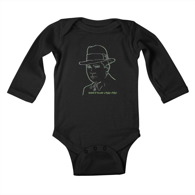 Two Gun Bob Kids Baby Longsleeve Bodysuit by pgttcm's Artist Shop