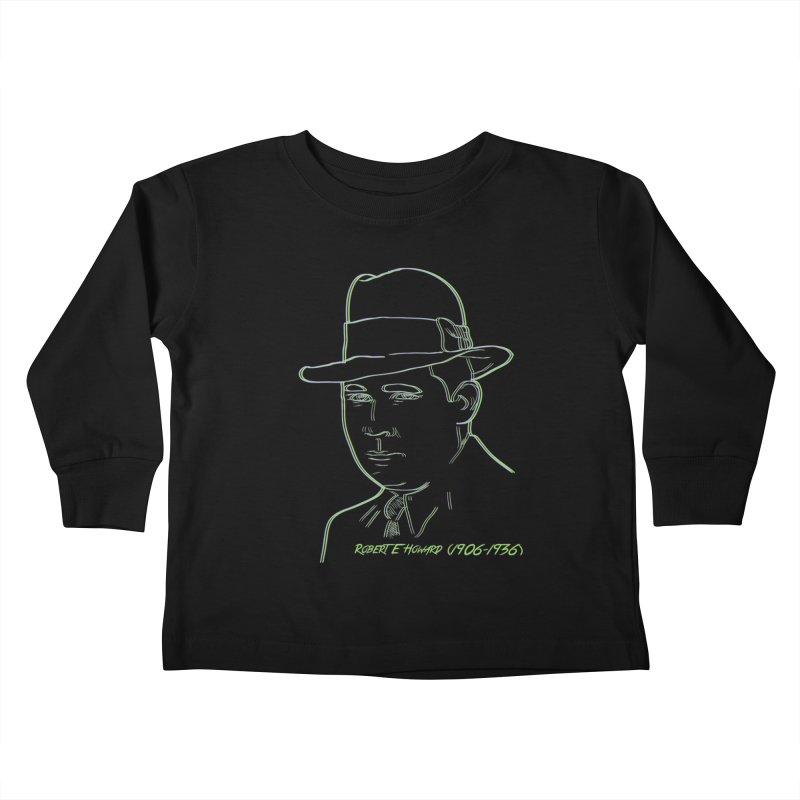 Two Gun Bob Kids Toddler Longsleeve T-Shirt by pgttcm's Artist Shop