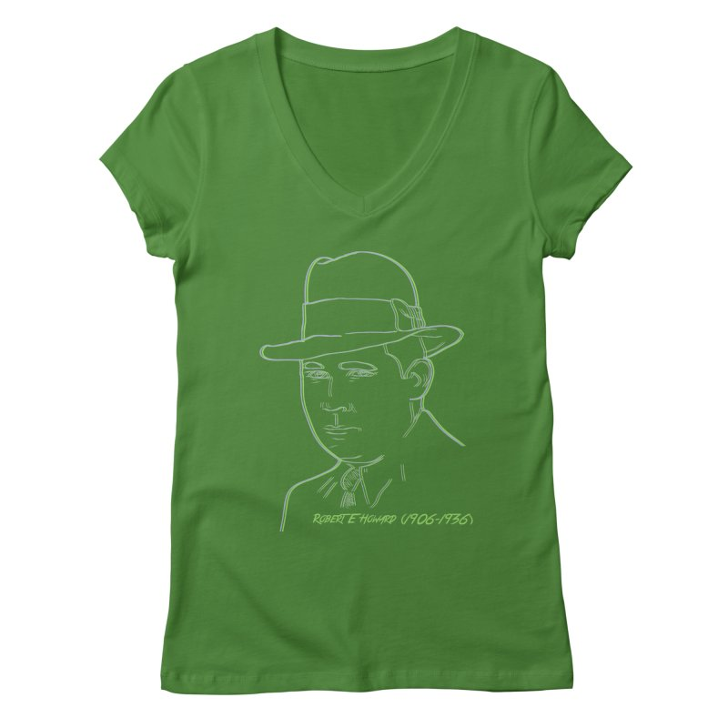 Two Gun Bob Women's Regular V-Neck by pgttcm's Artist Shop