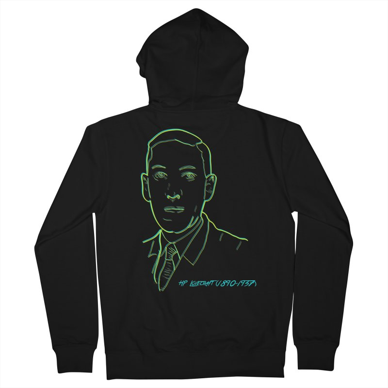 Lovecraft Men's French Terry Zip-Up Hoody by pgttcm's Artist Shop