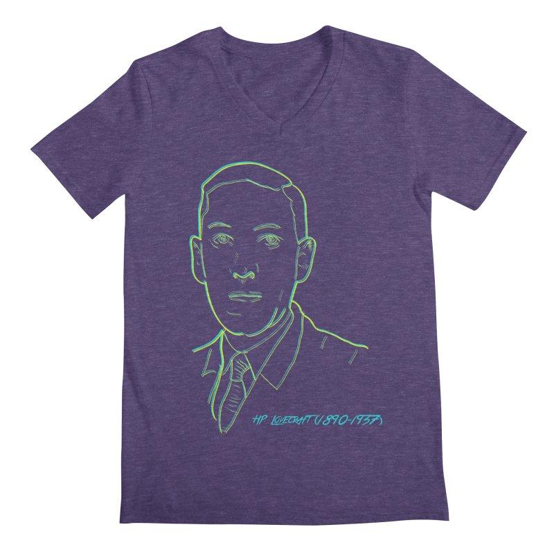 Lovecraft Men's Regular V-Neck by pgttcm's Artist Shop