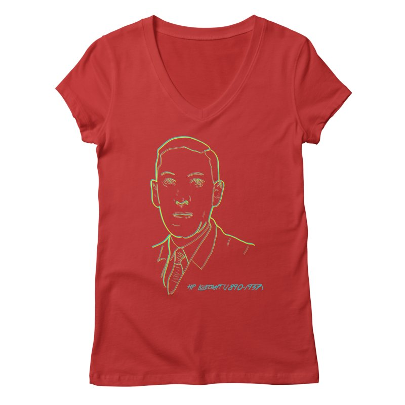 Lovecraft Women's Regular V-Neck by pgttcm's Artist Shop