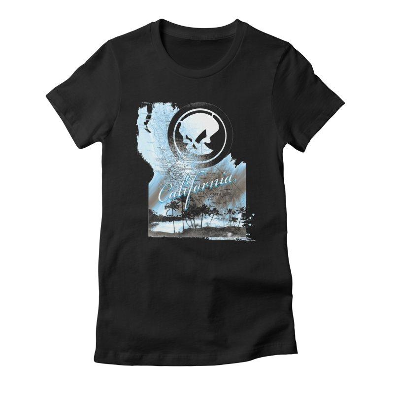 Phantom California Day Women's Fitted T-Shirt by phantom's Artist Shop