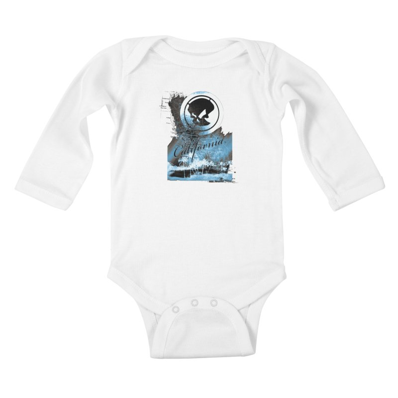 Phantom California Night Kids Baby Longsleeve Bodysuit by phantom's Artist Shop