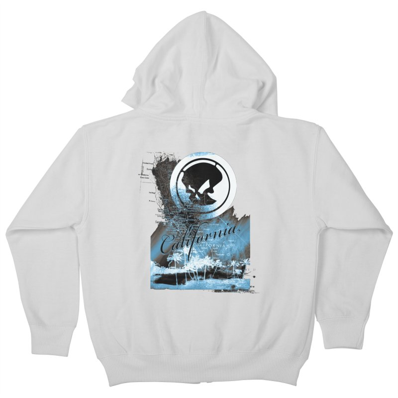 Phantom California Night Kids Zip-Up Hoody by phantom's Artist Shop