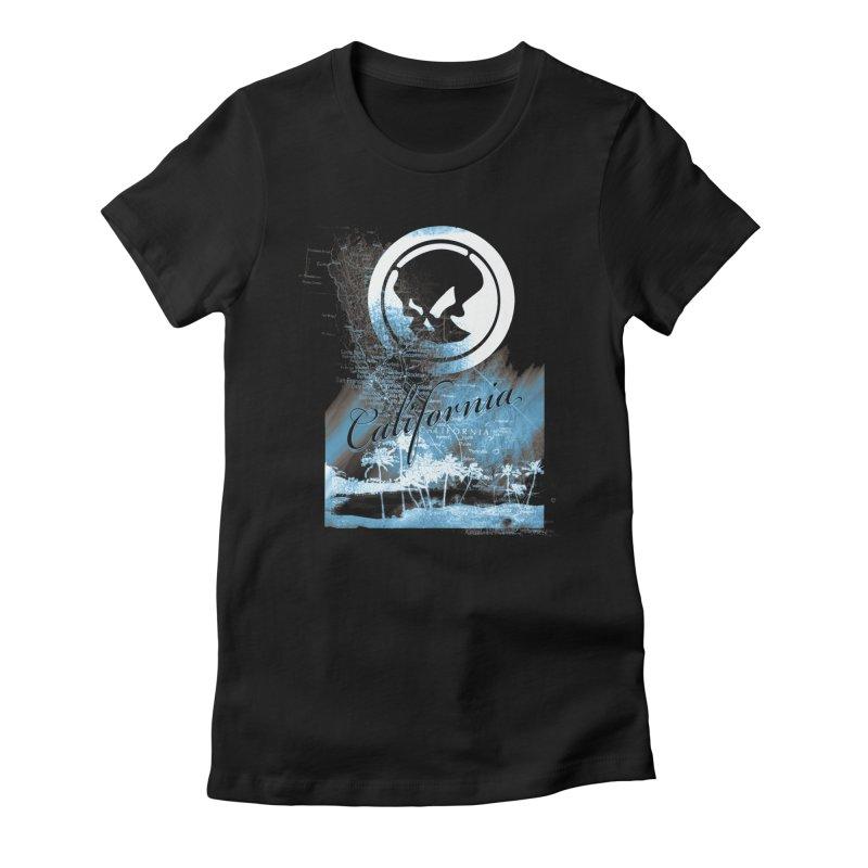 Phantom California Night Women's Fitted T-Shirt by phantom's Artist Shop