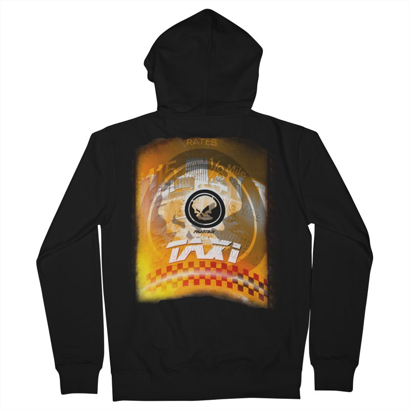 Phantom Taxi Men's French Terry Zip-Up Hoody by phantom's Artist Shop