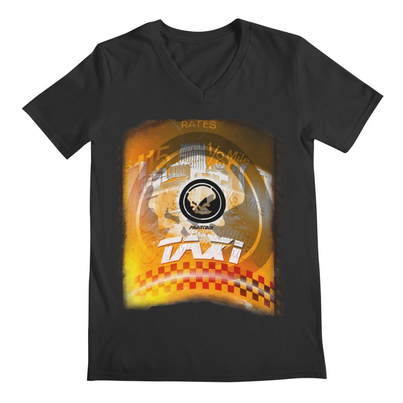 Phantom Taxi Men's Regular V-Neck by phantom's Artist Shop