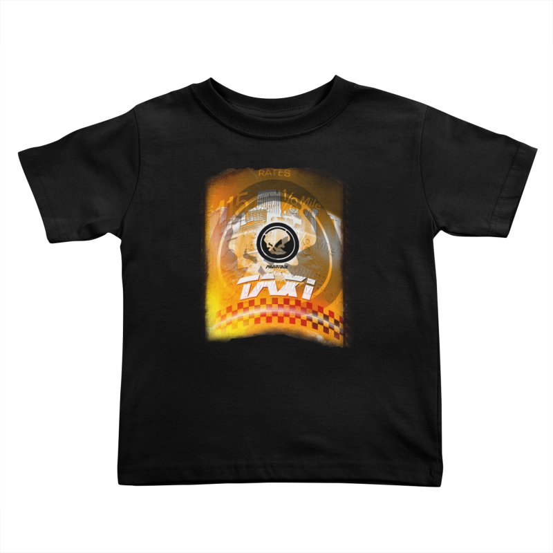 Phantom Taxi Kids Toddler T-Shirt by phantom's Artist Shop