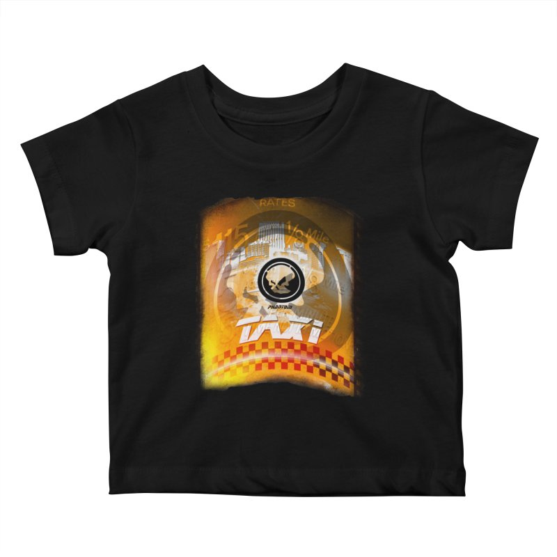 Phantom Taxi Kids Baby T-Shirt by phantom's Artist Shop