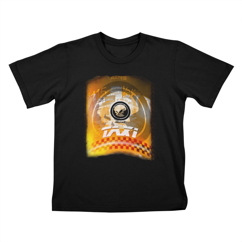 Phantom Taxi Kids T-Shirt by phantom's Artist Shop