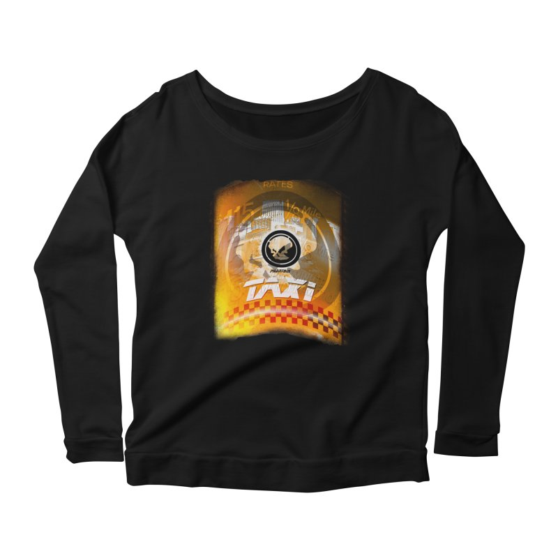 Phantom Taxi Women's Longsleeve Scoopneck  by phantom's Artist Shop