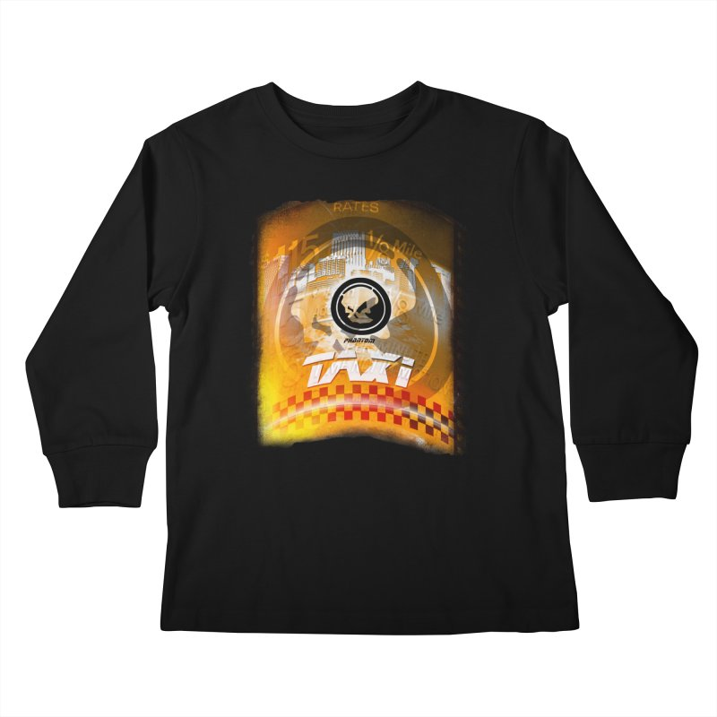 Phantom Taxi Kids Longsleeve T-Shirt by phantom's Artist Shop