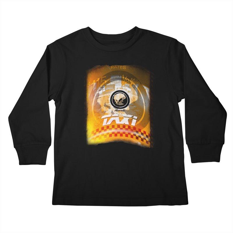 Phantom Taxi Kids Longsleeve T-Shirt by phantom's Artist Shop