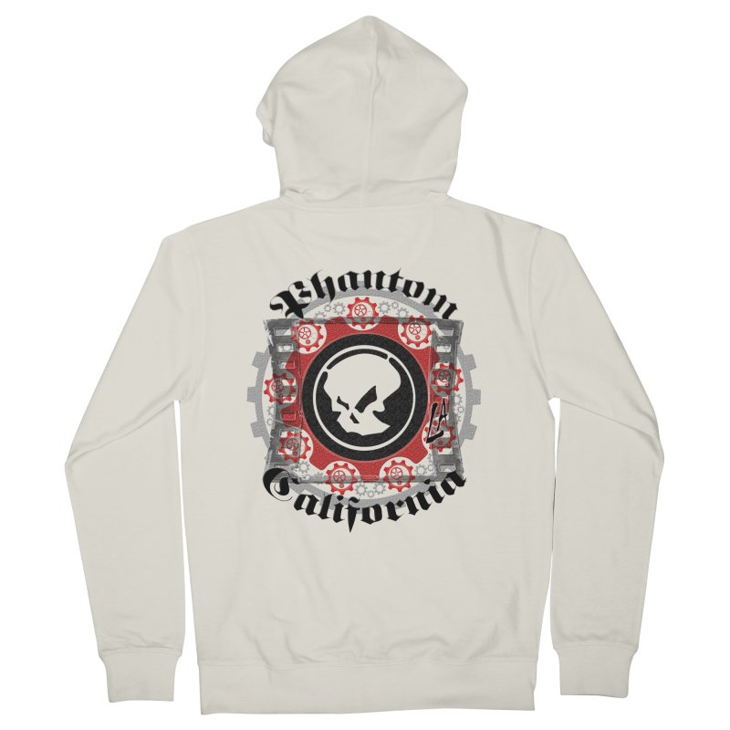 Phantom California LA (original) Men's Zip-Up Hoody by phantom's Artist Shop