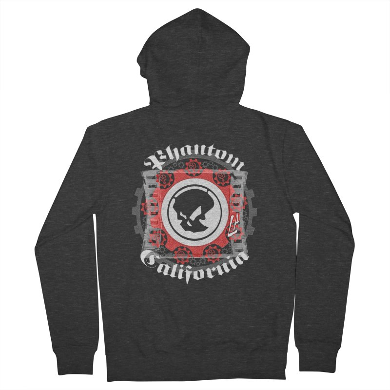 Phantom California LA (B/W) Men's Zip-Up Hoody by phantom's Artist Shop