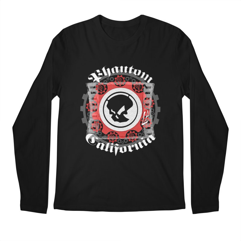 Phantom California LA (B/W) Men's Regular Longsleeve T-Shirt by phantom's Artist Shop