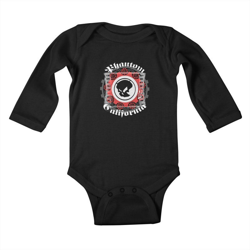 Phantom California LA (B/W) Kids Baby Longsleeve Bodysuit by phantom's Artist Shop
