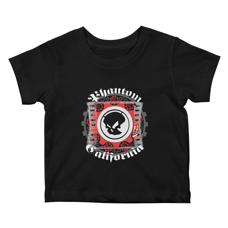 Phantom California LA (B/W) Kids Baby T-Shirt by phantom's Artist Shop