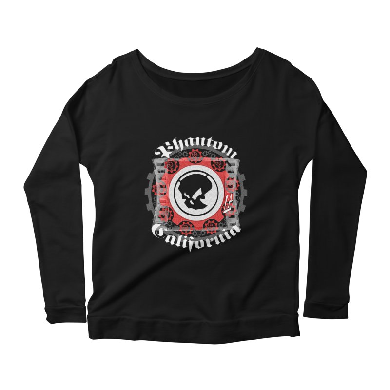 Phantom California LA (B/W) Women's Longsleeve Scoopneck  by phantom's Artist Shop