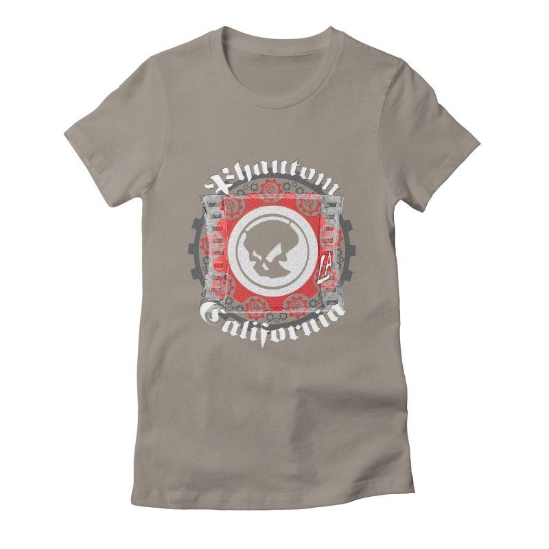 Phantom California LA (B/W) Women's Fitted T-Shirt by phantom's Artist Shop