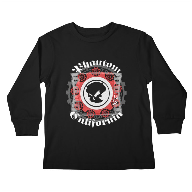 Phantom California LA (B/W) Kids Longsleeve T-Shirt by phantom's Artist Shop