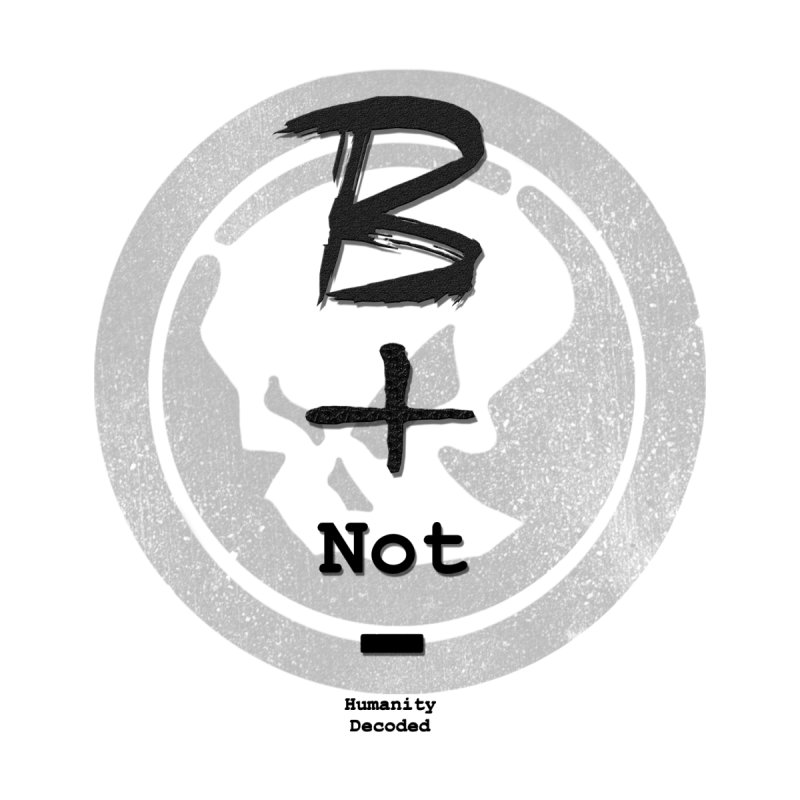 Phantom Be positive not negative B/W None  by phantom's Artist Shop