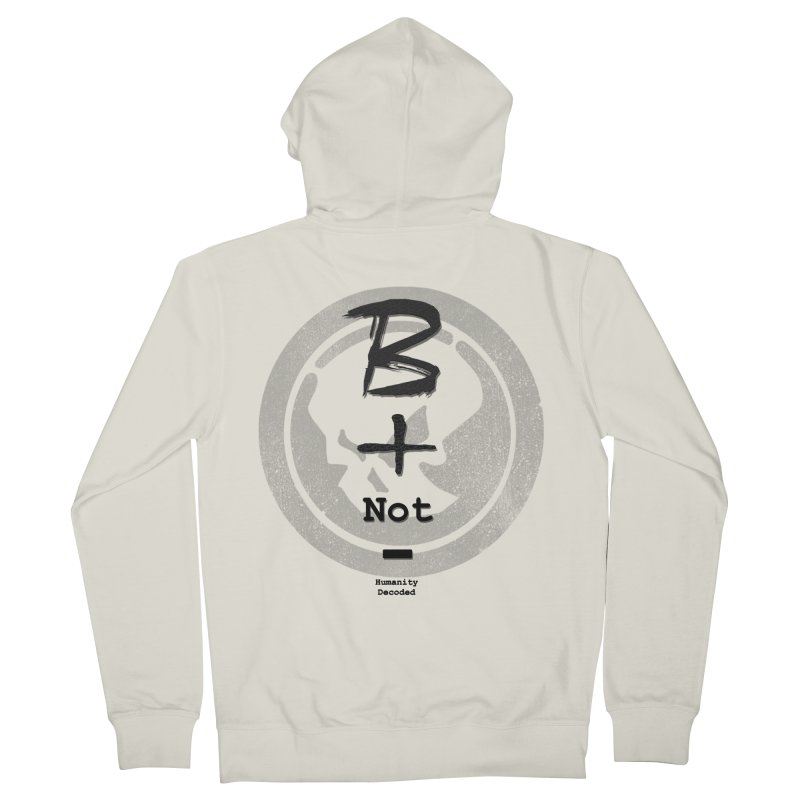 Phantom Be positive not negative B/W Men's Zip-Up Hoody by phantom's Artist Shop