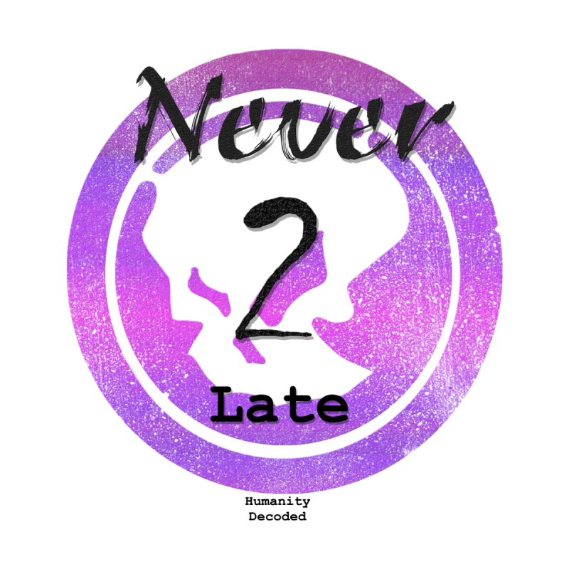 Phantom Never 2 late (black on white) by phantom's Artist Shop