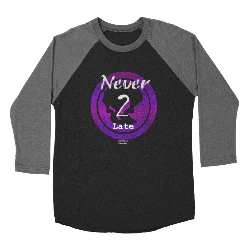 Phantom Never 2 late (white on black) Women's Longsleeve T-Shirt by phantom's Artist Shop