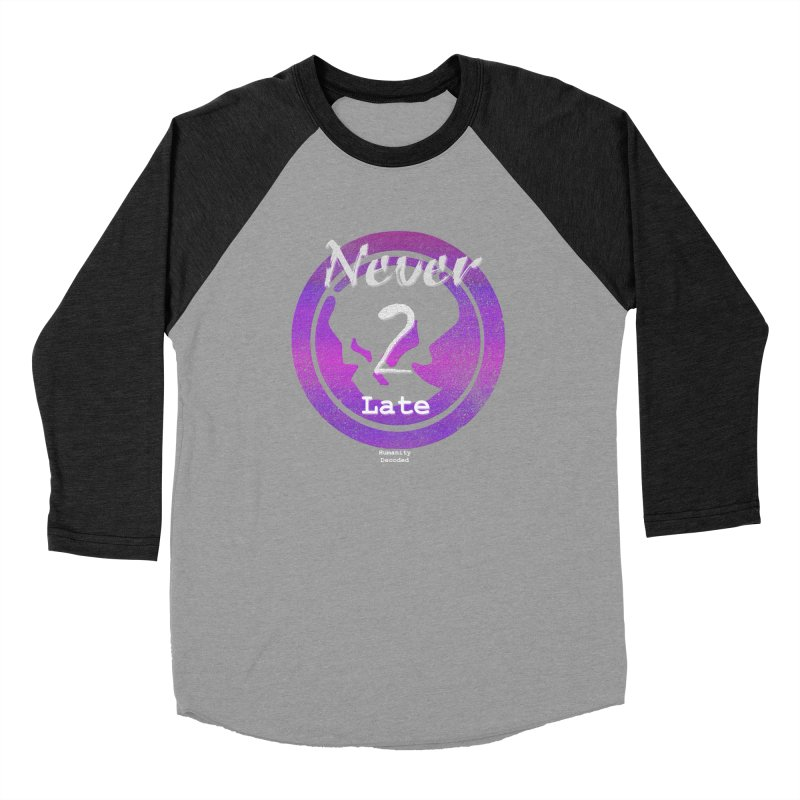 Phantom Never 2 late (white on black) Men's Longsleeve T-Shirt by phantom's Artist Shop