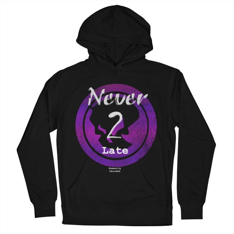 Phantom Never 2 late (white on black)   by phantom's Artist Shop