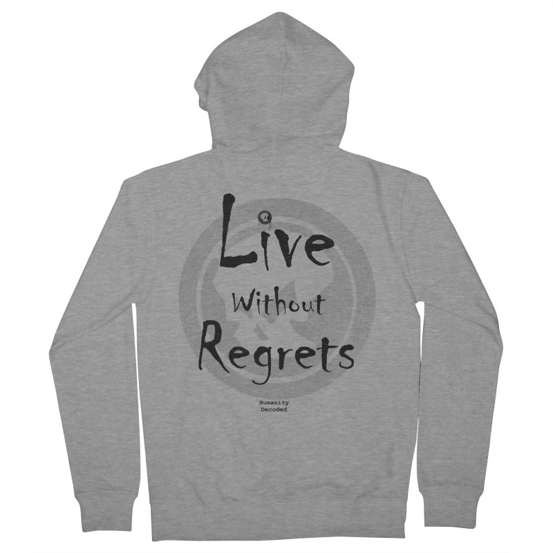 Phantom Live Without Regrets Men's Zip-Up Hoody by phantom's Artist Shop