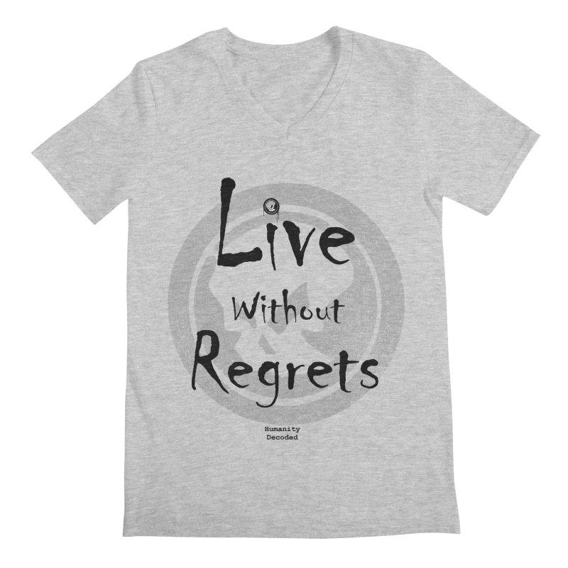 Phantom Live Without Regrets Men's Regular V-Neck by phantom's Artist Shop