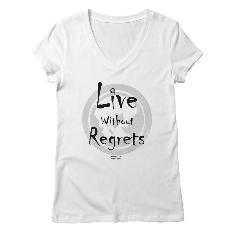Phantom Live Without Regrets Women's V-Neck by phantom's Artist Shop