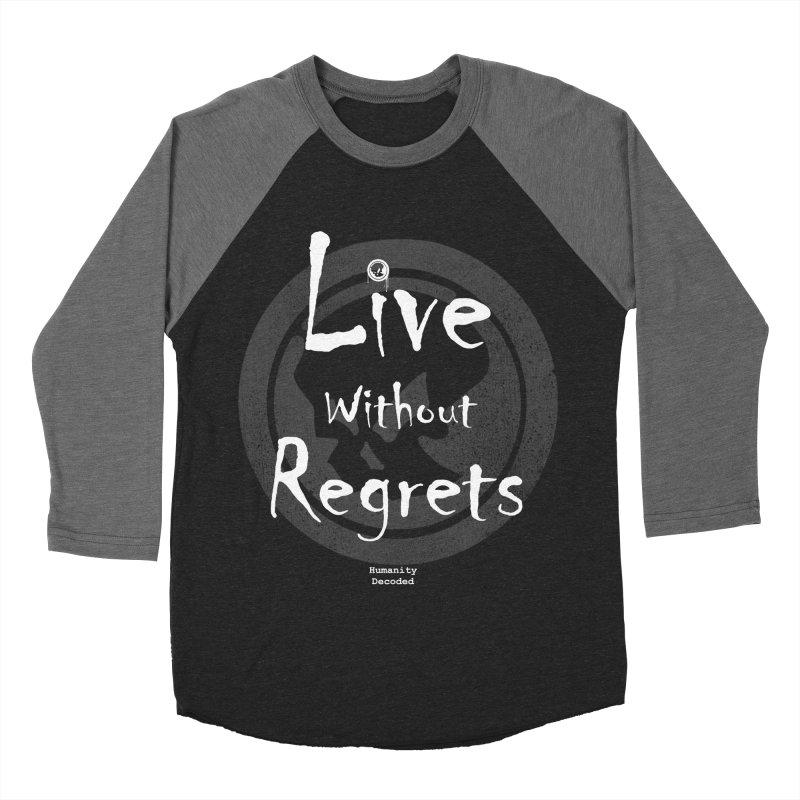 Phantom Live Without Regrets (white on black) Men's Baseball Triblend T-Shirt by phantom's Artist Shop