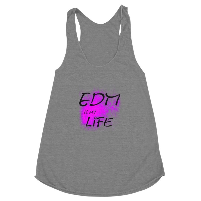 Phantom EDM is my Life Women's Racerback Triblend Tank by phantom's Artist Shop