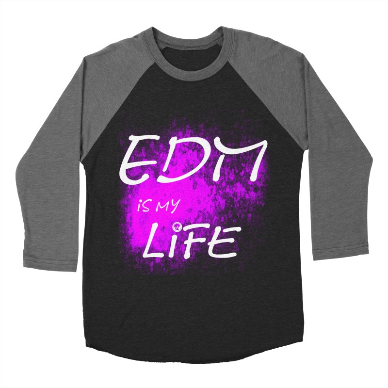 Phantom EDM is my Life W/B Men's Baseball Triblend Longsleeve T-Shirt by phantom's Artist Shop
