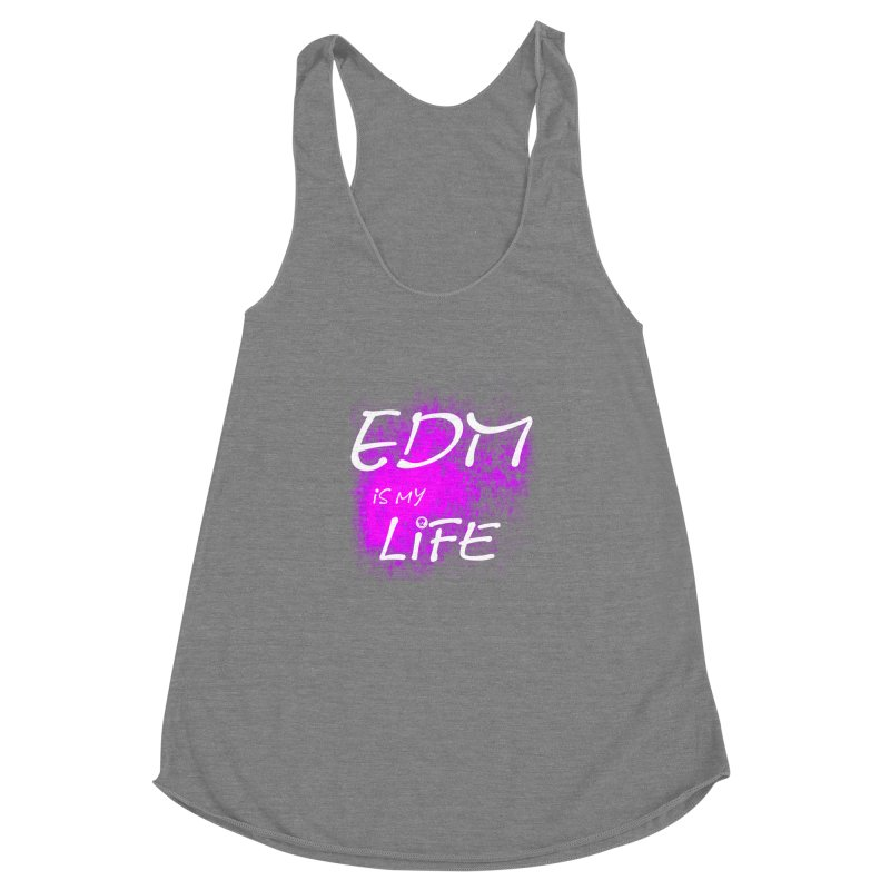 Phantom EDM is my Life W/B Women's Racerback Triblend Tank by phantom's Artist Shop