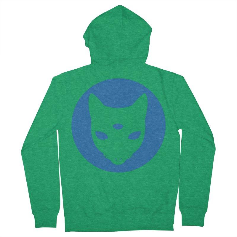 MASTER PACO BLUE Men's Zip-Up Hoody by Phantom Wave
