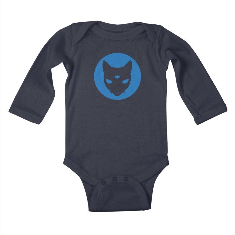 MASTER PACO BLUE Kids Baby Longsleeve Bodysuit by Phantom Wave
